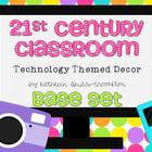 21st Century Classroom: Tech. Themed Decor Base Set