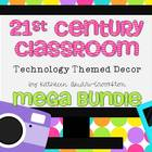 21st Century Classroom: Tech. Themed Decor Mega Bundle