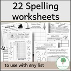 22 Educational Spelling Blackline Master Worksheets - Teac