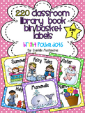 220 Classroom Library Book Bin / Basket Labels {Bright Pol