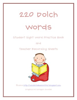 220 Dolch Words Sight Word Assessment Pack