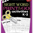 220 Sight Word Print and Go Bundle K-2