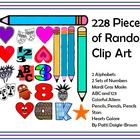 228 Random Clip Art PNG Creations for Teachers