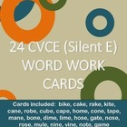 24 CVCE Word Work Cards