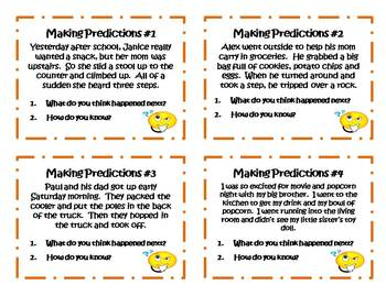 24 Making Predictions Task Cards