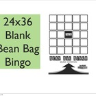 24x36 Blank Bingo
