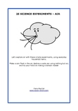 25 Air Experiments - Science - Workbook