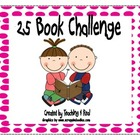 25 Book Club Reading Log Challenge