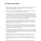 25+ Book Report Alternative Activities for ANY Book (Word 
