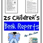 25 Children&#039;s Book Reports