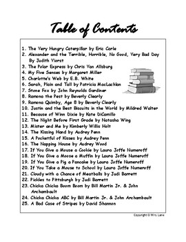 25 Children's Book Reports