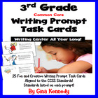 """25 Common Core 3rd Grade """"Writing Prompt"""" Task Cards, Stan"""