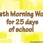25 Days of Math Morning Work Promethean Flipchart Lesson