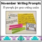 25 November Writing Prompts