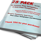 25 Pack: Lesson Plan Templates, Unit Plans and Guides