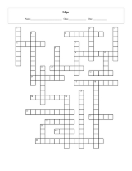 25 Question Eclipse Crossword with Key