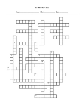 25 Question Harry Potter Sorcerer's Stone Crossword with Key