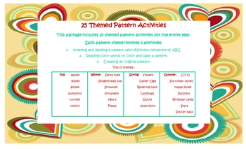 25 Seasonal-Themed Math Pattern Activity Printables