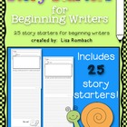 25 Story Starters for Beginning Writers