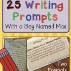25 Writing Prompts with Max {on the Move}