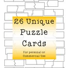26 Self-Correcting Puzzle Card Templates