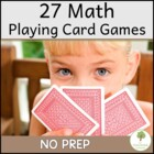 27 Card Games to teach Math concepts