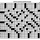 27 X 21 State Capitals Crossword Mega-Puzzle