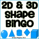 2D &amp; 3D Shape Bingo