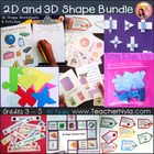 2D & 3D Shape Geometry Pack (Grades 2 to 5) with Common Core