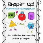 2D &amp; 3D Shapes: Shapin&#039; Up