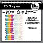 2D Shape Clip Art - 208 PNGs Colour and Black, Filled and
