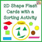 2D Shape Flash Cards with Venn Diagram Sorting Activity
