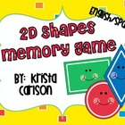 2D Shapes Memory Game (Bilingual)