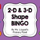 2D and 3D Shape Bingo Game