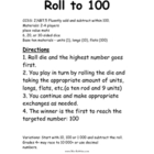 2.NBT.5 Roll to 100 Math Station Center Game