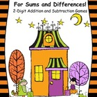 Trick-or-Treating for Sums & Differences!  2-Digit Word Pr