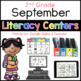 2nd/ 3rd Grade September Literacy Center Menu