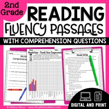 2nd Grade - 30 Reading Fluency and Comprehension Passages - Fiction & Nonfiction