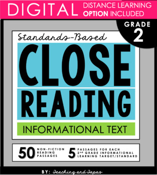 2nd Grade Close Reading and Text Evidence - Informational Text (52 passages)