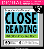 2nd Grade Close Reading and Text Evidence - Informational