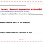 2nd Grade Common Core Assessment for  2.G