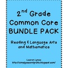 2nd Grade Common Core BUNDLE {Reading & Language Arts; Mat