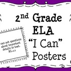 "2nd Grade Common Core ELA ""I Can"" Posters"