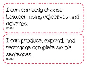 "2nd Grade Common Core ELA Standards - ""I Can"" Statements"