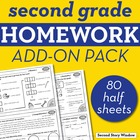 2nd Grade Common Core Homework Add-On Pack