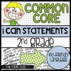 2nd Grade Common Core &quot;I Can&quot; Kid Friendly Statements {full size}