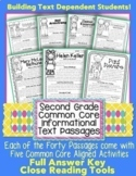2nd Grade Common Core: Informational Text Passages for Clo
