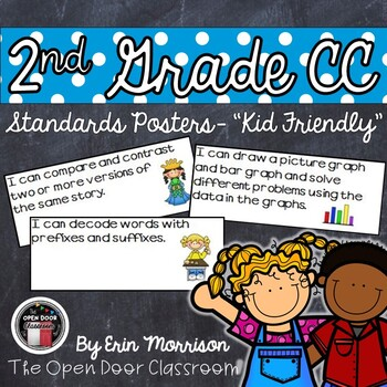 "2nd Grade Common Core ""Kid Friendly"" Posters- Language Arts"