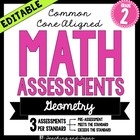 2nd Grade Common Core Math Assessment - Geometry (3 tests/