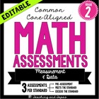 2nd Grade Common Core Math Assessment - Measurement and Da